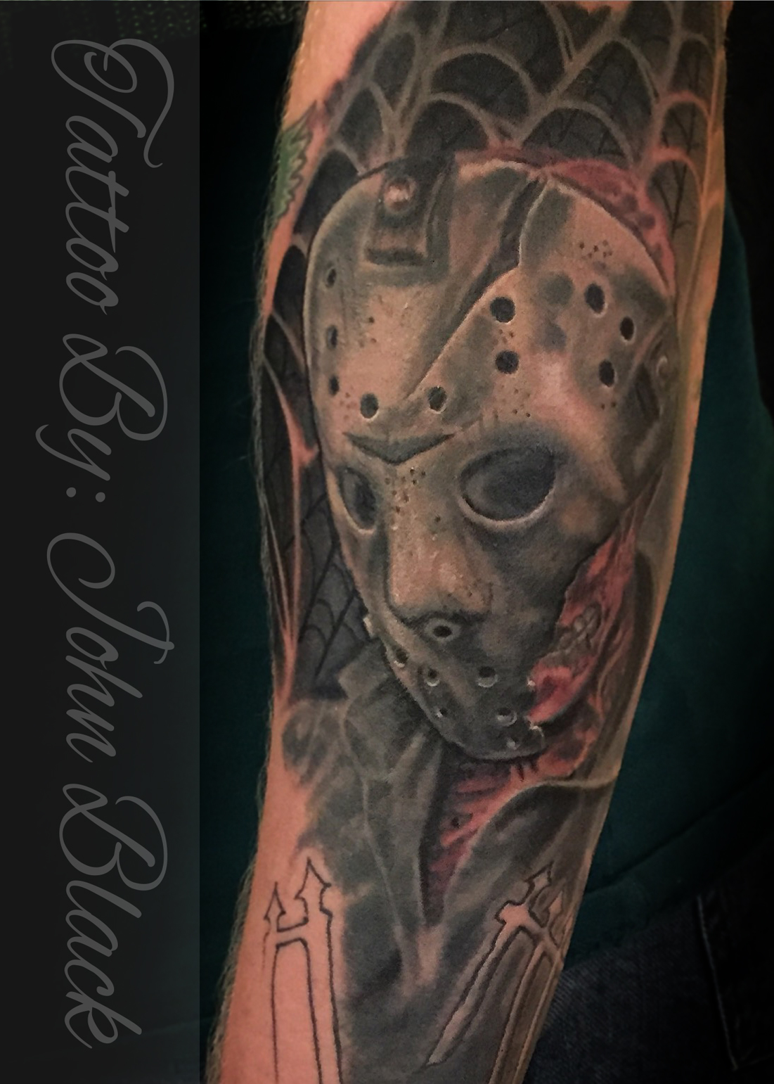 jason mask tattoo images galleries with a bite. Black Bedroom Furniture Sets. Home Design Ideas