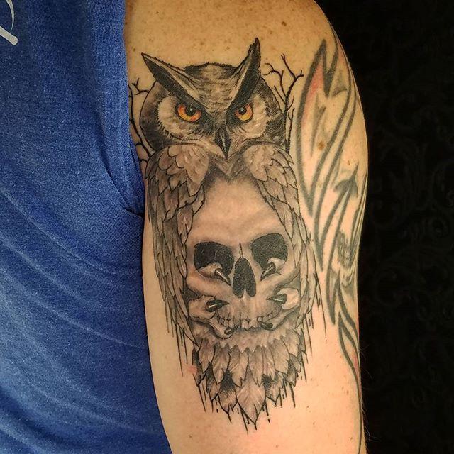 Healed-pic-of-a-tattoo-Drew-did-a-few-weeks-ago.-@dr.drewtat2-doubledeeztattoos-westchester-owlskull