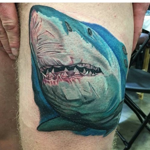 Shark-tattoo-by-Jason-Nicholson-at-the-Double-Deez-Tattoos-Booth-Wildwood-Tattoo-Beach-Bash-2017-Tat