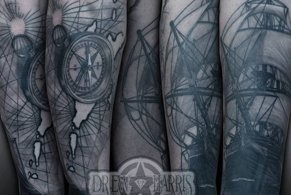 More-to-come-on-this-Caribbean-theme-sleeve-by-Drew-Harris-at-Double-Deez-Tattoos-in-West-Chester-@d