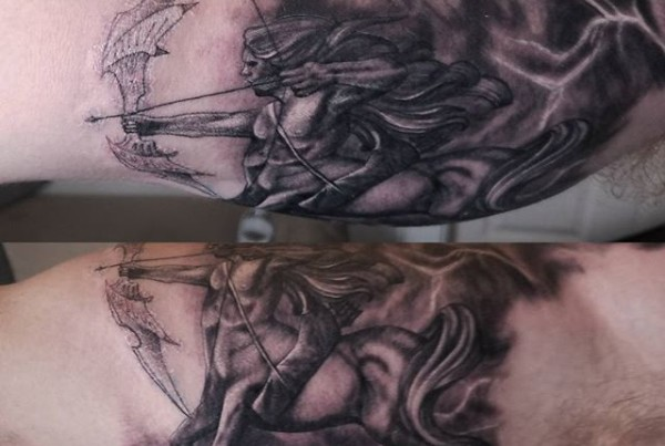 Sagittarius-tattoo-byDrew-Harris-at-Double-Deez-Tattoos-in-West-Chester-zodiacsigns-zodiactattoo-sag