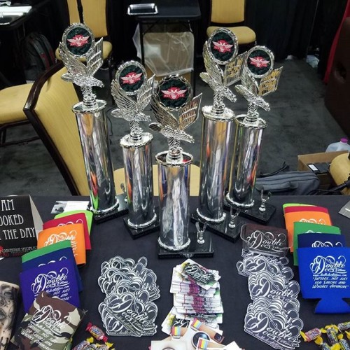 Some Trophies Drew took home at WOTR Expo 2017