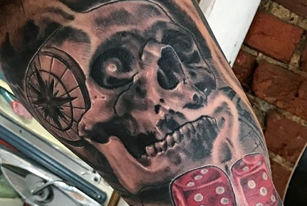 Nautical-skull-and-dice-byJohn-Black-at-Double-Deez-Tattoos-in-West-Chester-@johnblacktat2-nauticalt
