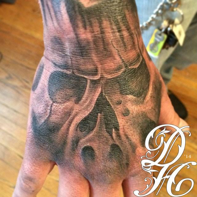 Skull Hand Tattoo Double Deez Tattoos